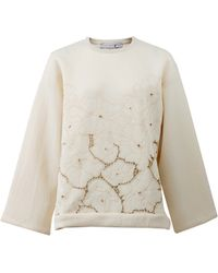 Stella McCartney | Floral Cut-out Scuba Pull-over | Lyst