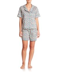 Liberty Short Floral Pajamas multicolor - Lyst