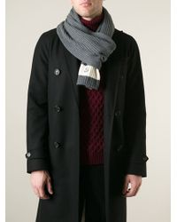 Moncler Ribbed Knit Scarf - Lyst