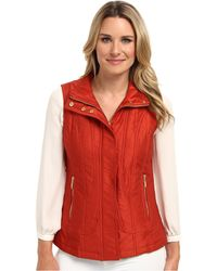 Pendleton Quilted Vest - Lyst