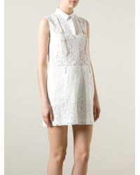 MSGM Lace Dungaree - Lyst