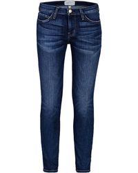 Current/Elliott Blue Denim Trousers - Lyst