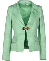 Versace Green Blazer - Lyst