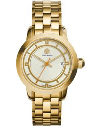 Tory Burch | Tory Goldtone Stainless Steel Bracelet Watch/ivory | Lyst