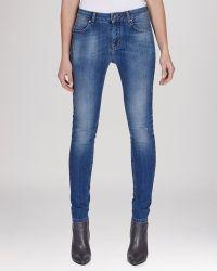 Karen Millen Jeans - Faded Worn Wash In Denim - Lyst