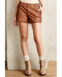 Pilcro - Quilted Vegan Leather Shorts - Lyst