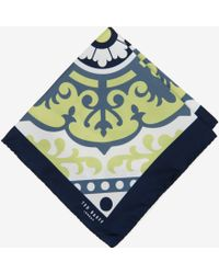 Ted Baker Graphic Floral Pocket Square - Lyst