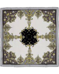 Emilio Pucci Square Scarf gray - Lyst