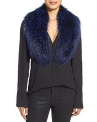 Badgley Mischka - Genuine Fox Fur Collar - Lyst