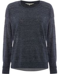 Part Two - Pullover In Detailed Contrast - Lyst