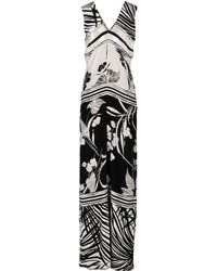 Class Roberto Cavalli Long Dress - Lyst