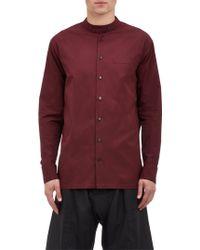 Marni Mandarin Collar Poplin Shirt - Lyst