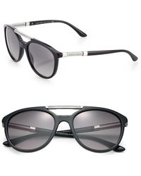 Giorgio Armani 53Mm Acetate Aviator Sunglasses black - Lyst