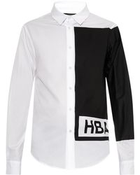 Hood By Air Illusion Block-Print Cotton Shirt - Lyst