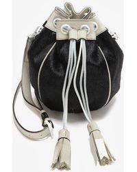 Meredith Wendell - Exclusive Calfhair Drawstring Crossbody Pouch - Lyst