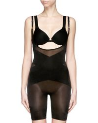 Spanx Skinny Britches® Open-Bust Mid-Thigh Body black - Lyst