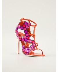 Gianmarco Lorenzi Geometric Paneled Sandals - Lyst
