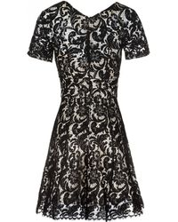 Lover | Short Sleeve Lace Mini Dress | Lyst