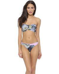 Preen Farrah Bikini Top - Painted Flower - Lyst