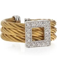 Charriol Squarediamond Cable Ring - Lyst