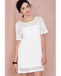 Nasty Gal Net Worth Mesh Dress white - Lyst