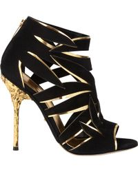 Sergio Rossi Ramage Cutout Ankle Boot - Lyst