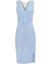 Altuzarra Portia Crinkled-Gingham Dress - Lyst