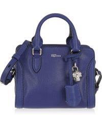 Alexander McQueen Padlock Mini Textured-Leather Shoulder Bag - Lyst