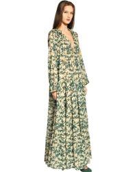 Yvonne S Poplin Cotton Floral Long Dress - Lyst