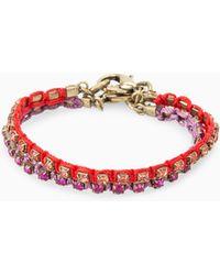 Mango | Rhinestone Thread Bracelet | Lyst