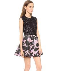 Giambattista Valli Sleeveless Brocade Dress Blackpink - Lyst