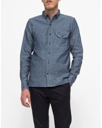 Rogue Territory Jumper Shirt Blue Chambray - Lyst