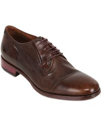 Rolando Sturlini - Washed Leather Derby Lace-up Shoes - Lyst