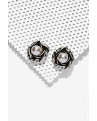 Cocoa Jewelry - Martina Alloy Stud Earrings - Lyst
