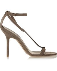 Burberry Prorsum Acrylic-paneled Suede Sandals - Lyst