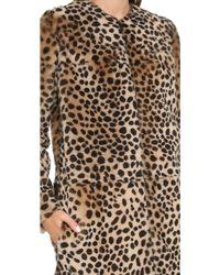 Loeffler Randall - Long Cheetah Shearling Coat - Cheetah Cheetah - Lyst