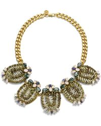 Tory Burch - Raffia, Gold-tone And Crystal Necklace - Lyst