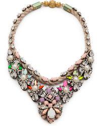 Shourouk - Princess Necklace Chalk - Lyst