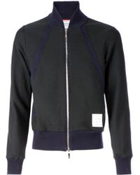 Thom Browne Perforated Bomber Jacket - Lyst