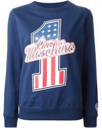 Love Moschino Logo Sweateshirt - Lyst