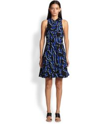 Proenza Schouler Printed Crossover Dress - Lyst