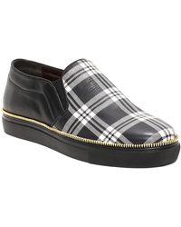 Alexander McQueen Tartan Print Leather Slip On Sneaker - Lyst