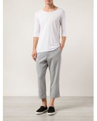 Y-3 Cropped Track Pants - Lyst