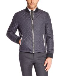 Hugo Boss T-cassianos  Stretch Virgin Wool Blend and Nylon Quilted Jacket - Lyst