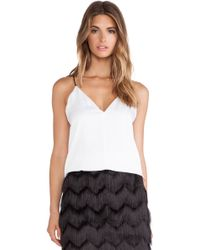 Milly Deep V Tank - Lyst