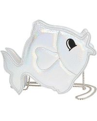 Nila Anthony | 'fish' Metallic Faux Leather Crossbody Bag - Metallic | Lyst