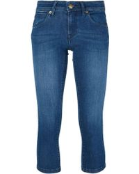 Burberry London Cropped Skinny Jeans - Lyst