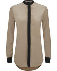 Ralph Lauren Black Label Silk Alfia Shirt - Lyst