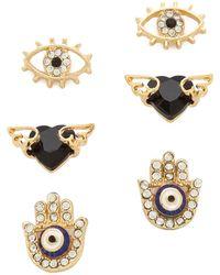 Adia Kibur - Earring Set - Gold Multi - Lyst