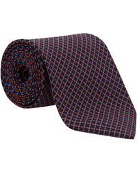 Drake's Navy Grid Silk Tie blue - Lyst